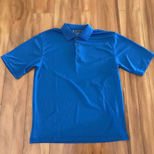 Pebble Beach Mens Blue Collared Shirt Size Medium